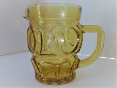 Vintage Amber/Depression Glass Mini Pitcher 4