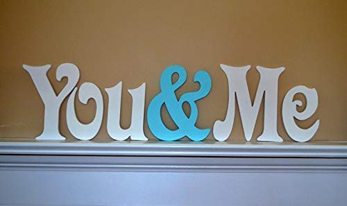 Best Quality - New Arrival -Custom Sign - You & Me - Custom Painted Wooden Wedding Letters-Home Decor- Monogram Letters- DIY - Photography Prop - by Kiartten - 1 Pcs - Wood Letter