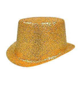 Image Unavailable. Image not available for. Colour  Hat Glitter Topper Gold  PVC for Fancy Dress Party Accessory 8f78a340fc71