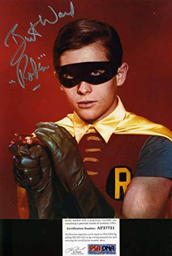 BURT WARD Batman Robin Coa Hand Signed 8x10 Photo Autograph - PSA/DNA Certified