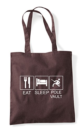 Hobby Pole Bag Tote Activity Brown Sleep Shopper Vault Eat Funny Tiles wqZX75C