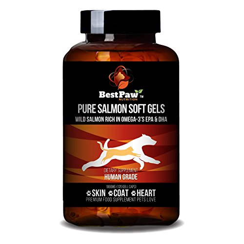 Cheap Pure Wild Alaskan Salmon Oil for Dogs & Cats Allergy, Dry Itchy Skin, Hotspots, Joint Pain Relief