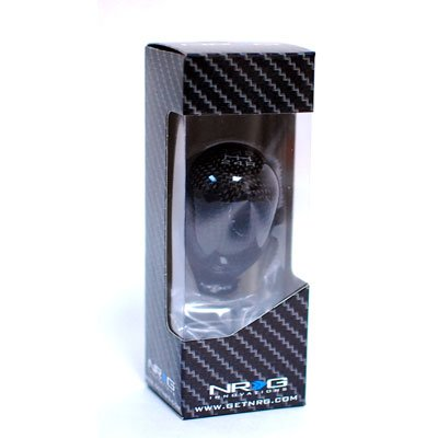 NRG 42mm Carbon Fiber Black 5 Speed Manual MT Universal Shift Knob (Part: SK-100BC)