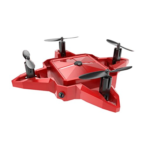 Inverlee S11 Mini 2.4G 4CH Altitude Hold HD Camera WIFI FPV RC Quadcopter Drone Selfie Foldable,Great Xmas Gift (Red) by Inverlee
