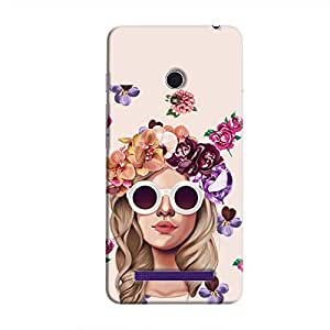 Cover it up Flower Head Pink Hard Case for Asus Zenfone 6 - Multi Color