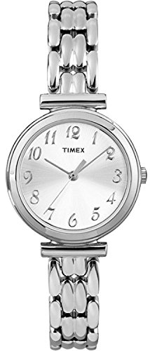 Timex T2P200 Ladies Silver Chrome Multi Link Watch
