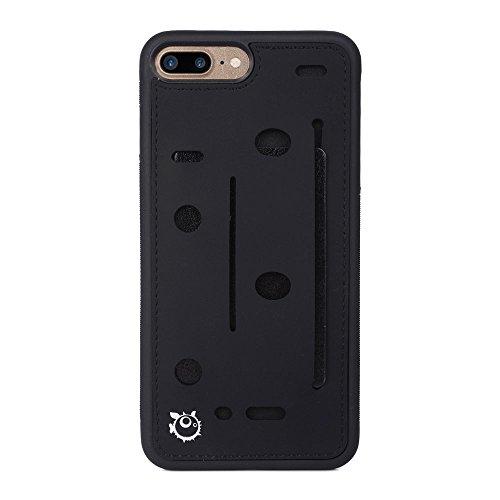 - Kroo Expandable Slim TPU Wallet Card & Accessories Case for Apple iPhone 7 Plus - Black