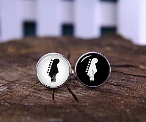 Death Devil Art Picture Cuff Links,Guitar Cufflinks, Gibson Guitar Cufflinks & Tie Clips, Custom Musical Instrument Cuff Links, Personalized Cuff Links, Musician Gift, Tie Pin,Gift of Love