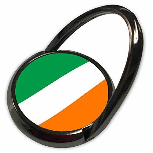 3dRose InspirationzStore Flags - Flag of Ireland - Irish green white orange vertical stripes United Kingdom UK world country souvenir - Phone Ring (phr_158340_1)