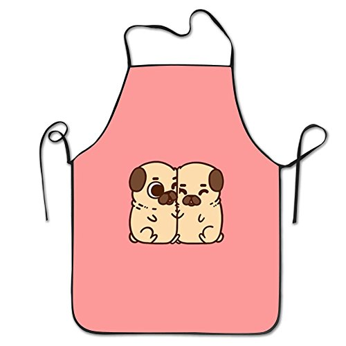 LPYHB-U8 Puglie Pug Pattern Women Comfortable Kitchen Apron, Perfect For Cooking, Baking, Crafting