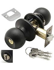Wolfpack 3030560 Entree deurknop met sleutel en slot, zwart