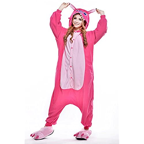 VU ROUL Super Snuggly Fleece Kigurumi Onesies Anime Lilo and Stitch onesie for Adults