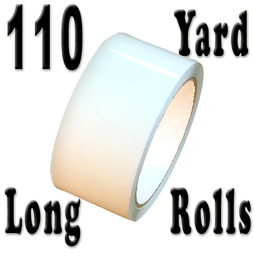 """Carton Sealing Tape 2"""" x 110 yds 2 mils, several colors, White"""