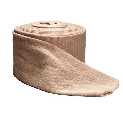 (Tubigrip Elastic Tubular Support Bandage - Size F - 12 yeards (1 yard each) - Natural Color - Box)