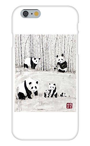 Obama Phone Costume (Panda Family in a Bamboo Woods Mural Yuya Negishi YUYART - Apple iPhone 6 Custom Case White Plastic Snap On)