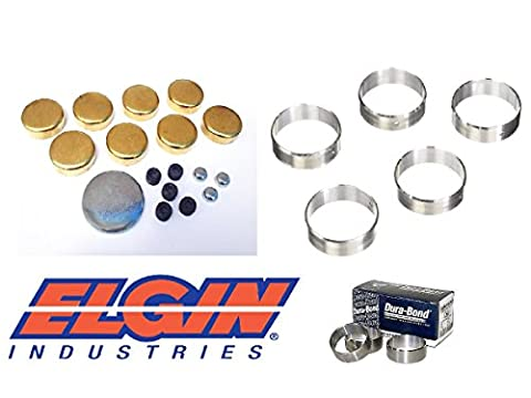 Dura Bond SbC Brass Freeze Plugs With Cam Bearings Small Block Chevrolet's (Brass Plugs ) (Sbc 350 Cam)