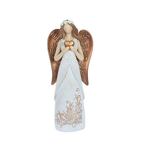 CEDAR HOME Garden Statuary Loving Angel with Heart Outdoor Resin Sculptures Collectible Figurines 10.5'' H by CEDAR HOME