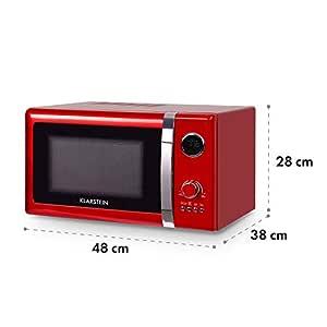 Klarstein Fine Dinesty - Horno microondas con grill , Microondas 2 en 1 , Microondas 800W , Grill 1000W , Capacidad 23L , 12 programas , 3 niveles de ...