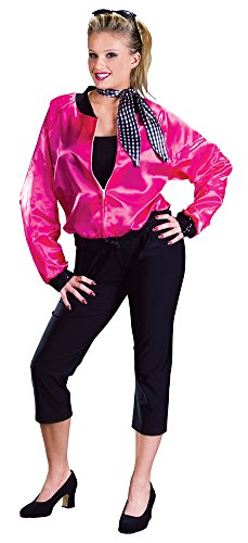 Womens Halloween Costume- Rock Roll Pink Adult Costume Medium-Large