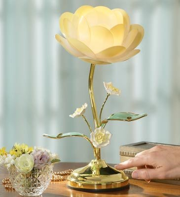 Lotus Flower Touch Table Lamp by Winston Brands (Table Flower Lamp)