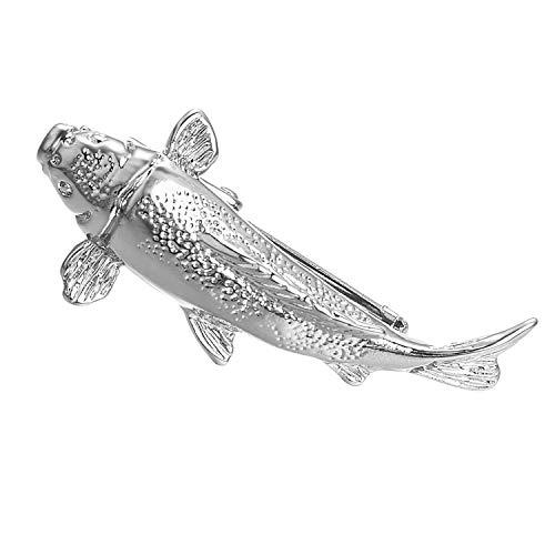 Yoursfs Fishermen's Tie Clip Silver Toned Textured Salmon Fish Tie Tack ()