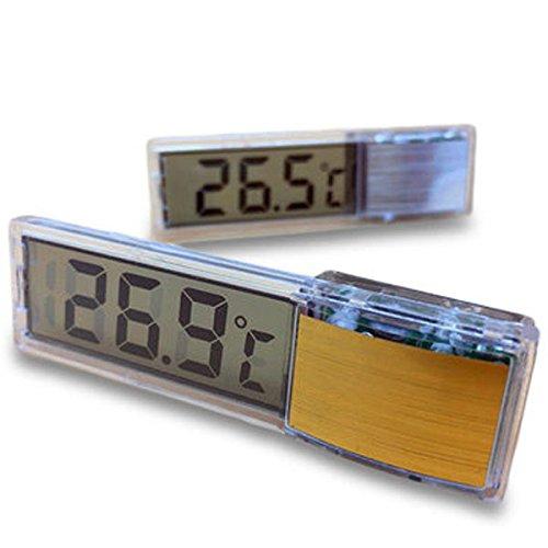 Gordan Aquarium Water Thermometer, Multi-Functional LCD 3D Digital Electronic Temperature Measurement for Fish Tank by Gordan