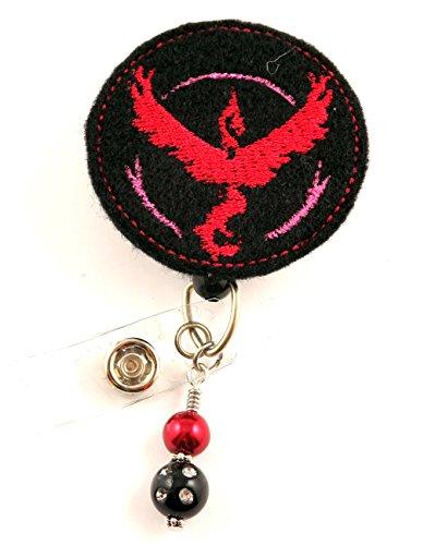 Team Valor Inspired - - Nurse Badge Reel - Retractable ID Badge Holder - Nurse Badge - Badge Clip - Badge Reels - Pediatric - RN - Name Badge Holder