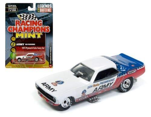 Auto World Racing チャンピオン 1: 64 ミント - レジェンドオブザクォーターマイル - Army Don Prudhomme 1973 プリムス Cuda ファニーカー B07H3NFLCB