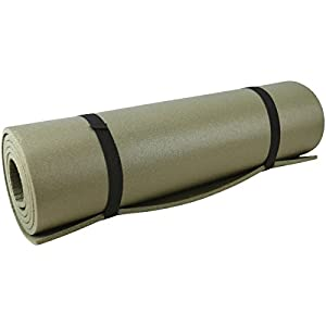 Kombat UK Waterproof Unisex Outdoor Military Roll Mat available in Olive Green – Size 180 X 500 X 0.8 cm