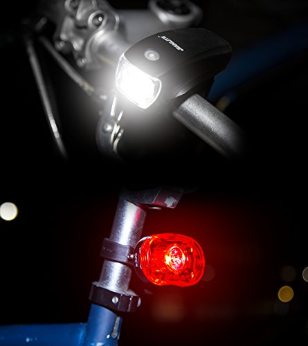 SAMLITE Best Brightest LED Bike Light Set for Kids & Adults, Super Bright Bicycle Headlight, Free Tail Light Included, Water Resistant Bike Light, Easy To Install, Multiple Modes for Cycling Safety by SAMLITE (Image #4)