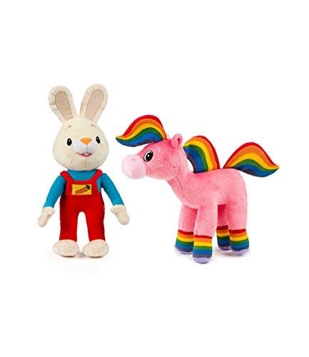Baby First TV - Plush Set - Harry the Bunny and Rainbow Horse - PERFECT BIRTHDAY GIFT (Infant Tv)