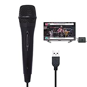 usb wired karaoke gaming microphone for nintendo switch wii u ps4 xbox one xbox 360. Black Bedroom Furniture Sets. Home Design Ideas