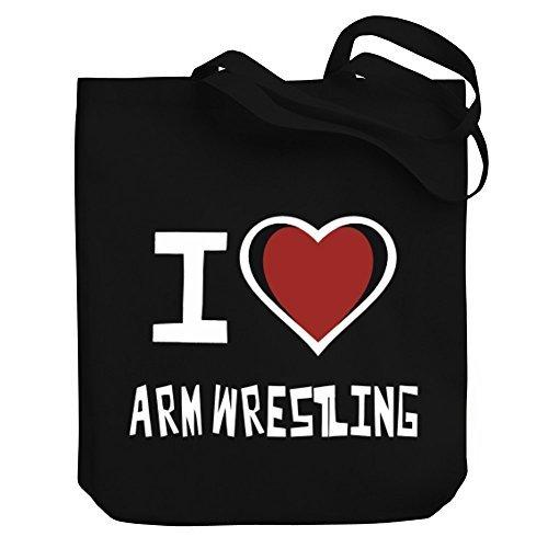 Valentine Herty Shopping bag I love Arm Wrestling Canvas Tote Bag