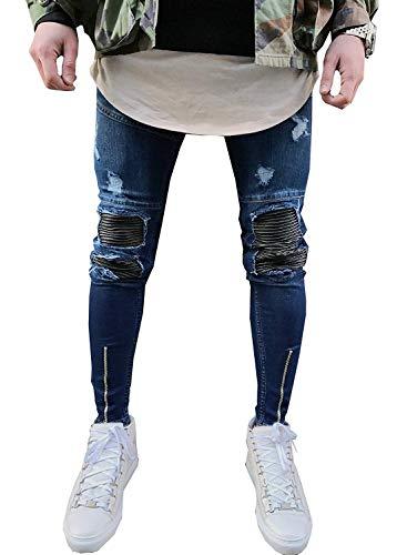 Elastici Dritti Fit Jeans Blue Fashion A Cotton Slim Classiche Comodi Ssig Da Ragazzi Alti Morbidi Pantaloni Uomo 4qY76