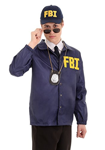 Adult FBI Costume - XL Navy