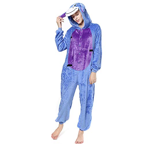 Rose town Halloween Costume Pajamas Buttercup Cartoon Cosplay(Blue-Large)]()