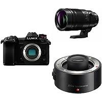 Panasonic LUMIX G9 Mirrorless Camera Body (DC-G9KBODY) with Panasonic LUMIX 200mm F/2.8-22 Fixed Zoom DG Elmarit Professional Lens (H-ES200) and Panasonic LUMIX 2.0X Teleconverter Lens (DMW-TC20)