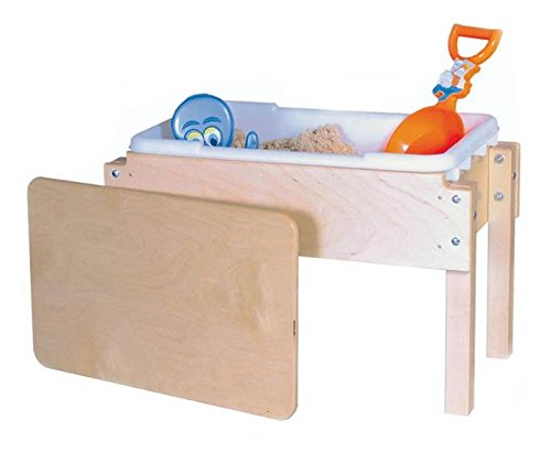 Wood Designs WD11812 Petite Tot Sand and Water Table with Lid, 18 x 28 x 15