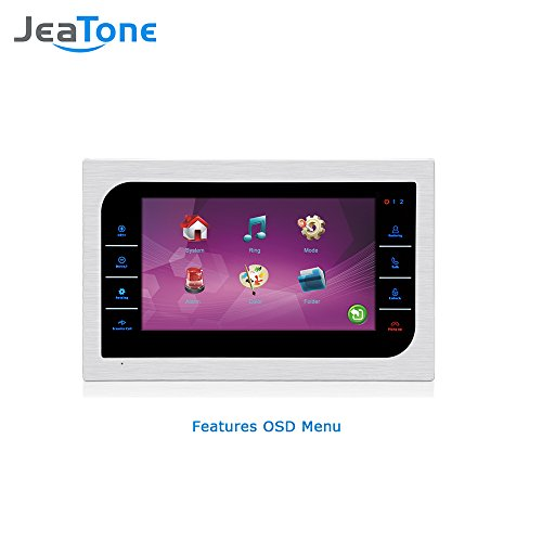 JeaTone 10 Inch TFT Wired Video Door Phone Intercom Security Camera Doorbell Home Security Camera System 32GB SD Card Video Record Monitor Door Video Camera Best Selling by Jeatone (Image #2)