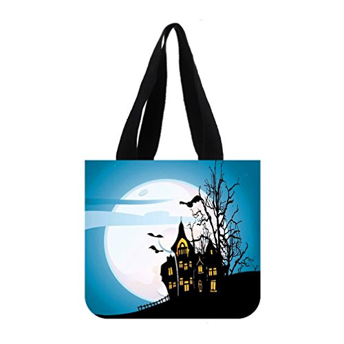[JIUDUIDODO Cotton Canvas Custom Cool Halloween Evil Jack with Bat Tote Bag Casual Bags Shopping Bags Shoulder Bags (2] (Wine Bottle Costumes Halloween)