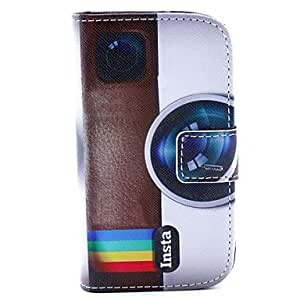 ZCL Camera Design PU Leather Full Body Case with Stand and Card Slot and Money Holder for Samsung Trend Duos S7562