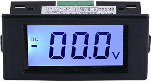 Yeeco Digital Voltmeter Voltage Meter DC Volt Testing Gauge LCD Display Voltage Measuing Volt Panel Meter (DC 0-19.99V)