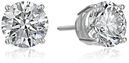 IGI Certified 14k White Gold Lab Created Diamond Stud Earrings (4 cttw, I-J Color, SI1-SI2 Clarity)