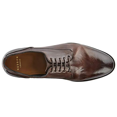 Mens Hudson Dorsay H Office Smart Business Work Brown Flat By Leather Shoes 7cWOgHO