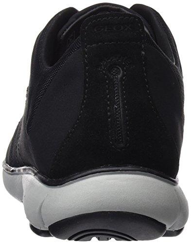Geox U Nebula F, Zapatillas para Hombre Negro (Black)