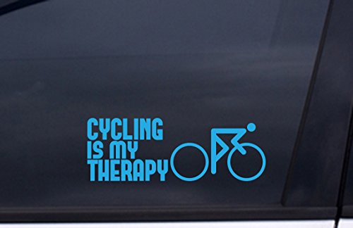 (CYCLING IS MY THERAPY VINYL Decal 3
