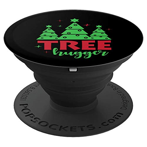 Evergreen Tree Christmas Stocking Stuffers Gift Black - PopSockets Grip and Stand for Phones and Tablets (Evergreen Stocking)