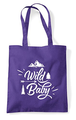 Baby Purple Wild Bag Statement Adventure Shopper Tote BwwSqfxd