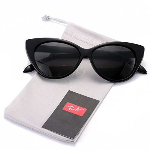 Pro Acme Cat Eye Sunglasses Clout Goggles Vintage Narrow Style Retro Kurt Cobain Sunglasses (Black Frame/Black ()