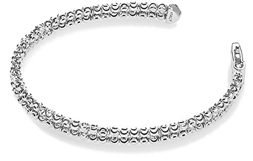 Officina Bernardi - Moon Collection - Two Row Bracelet (2 Color Choice) - Italian 925 Sterling Silver (sterling-silver, 8 Inches) by Officina Bernardi